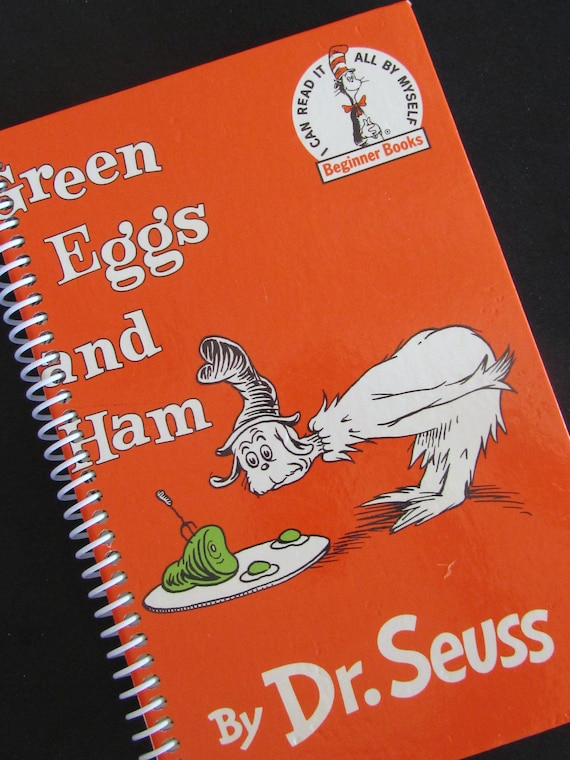 DR. SEUSS Upcycled Green Eggs and Ham Journal Book - Recycled and Earth Friendly - Beginning Reader Book Reduced