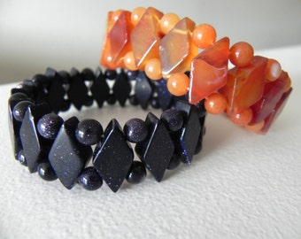 Vintage Black Beaded Bracelet