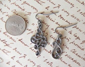 Metal Scrollwork Earrings
