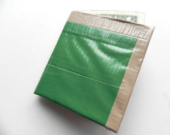 Green Duct Tape Wallet