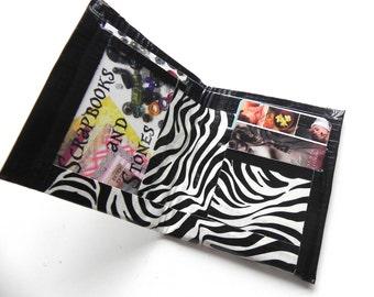 Duct Tape Zebra Wallet