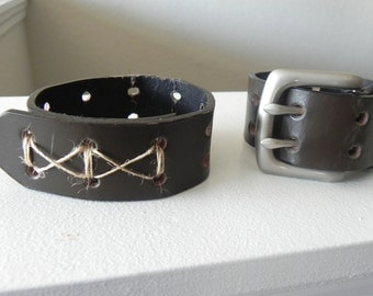 Leather Cuff, Upcyled Belt