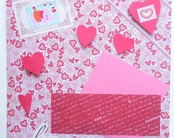 Happy Valentine's Day, Premade 12x12 Scrapbook Page