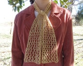 Soft Gold-colored Lace Scarf