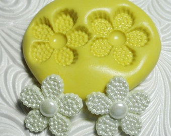 """3/4"""" DOT FLOWER Flexible Silicone Rubber Push Mold for Resin Wax Fondant Clay Ice"""