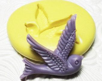 SPARROW BIRD Mold Flexible Silicone Push Mold for Resin Wax Fondant Clay Fimo Ice 5226