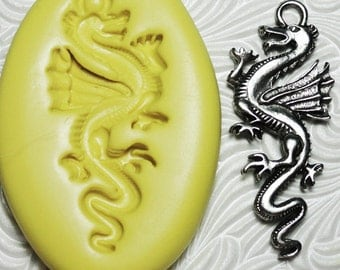 DRAGON MOLD Flexible Silicone Rubber Push Mold for Resin Wax Fondant Clay Ice 6023