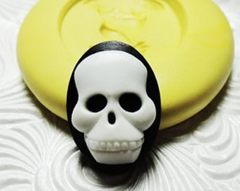 Skull Cameo Mold Mould Silicone Rubber Push Mold for FIMO Metal Clay Resin Wax Fondant Clay Ice 3753