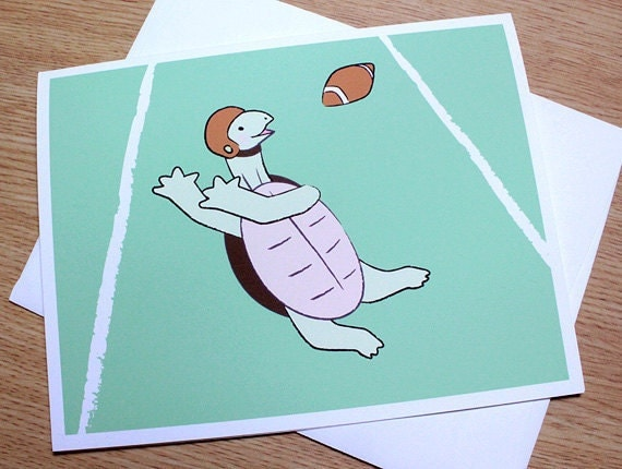 Football Card - Turtle Blank Cards (Set of 6)