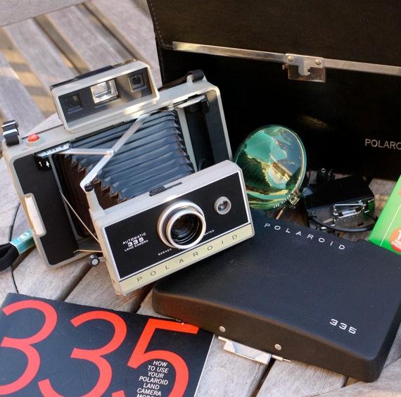 Model Land Movie: Working Vintage Polaroid Land Camera 335 Instant Photo With