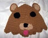 Pedobear Inspired Crochet Cosplay Hat
