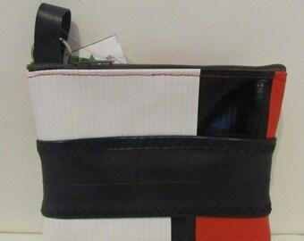 Innertube and Recycled Banner Coin Purse, Banner Wallet, Innertube Wallet