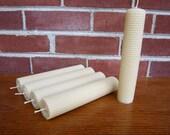 """Large Beeswax 1.5""""  Pillar Set of 2"""