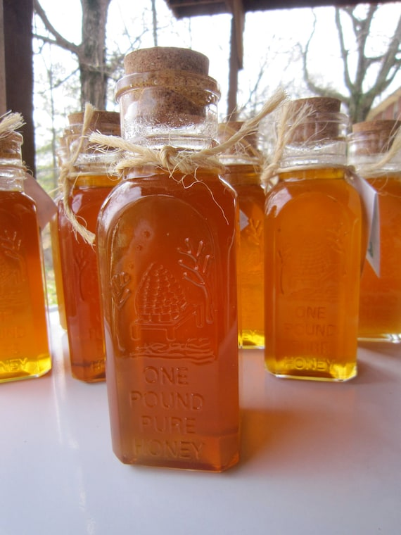 Honey Vintage Glass Bottle 1 Pound