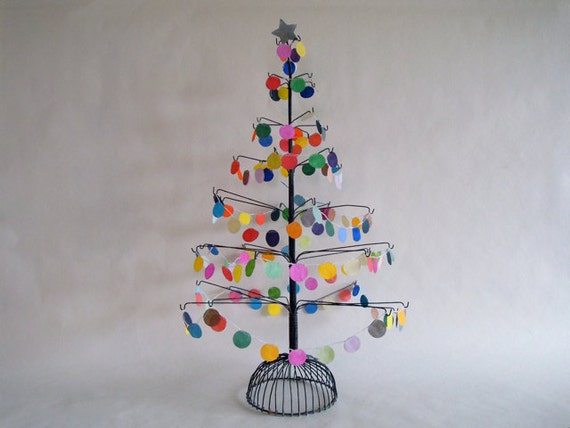 Vintage Tabletop Tree For Ornament Display