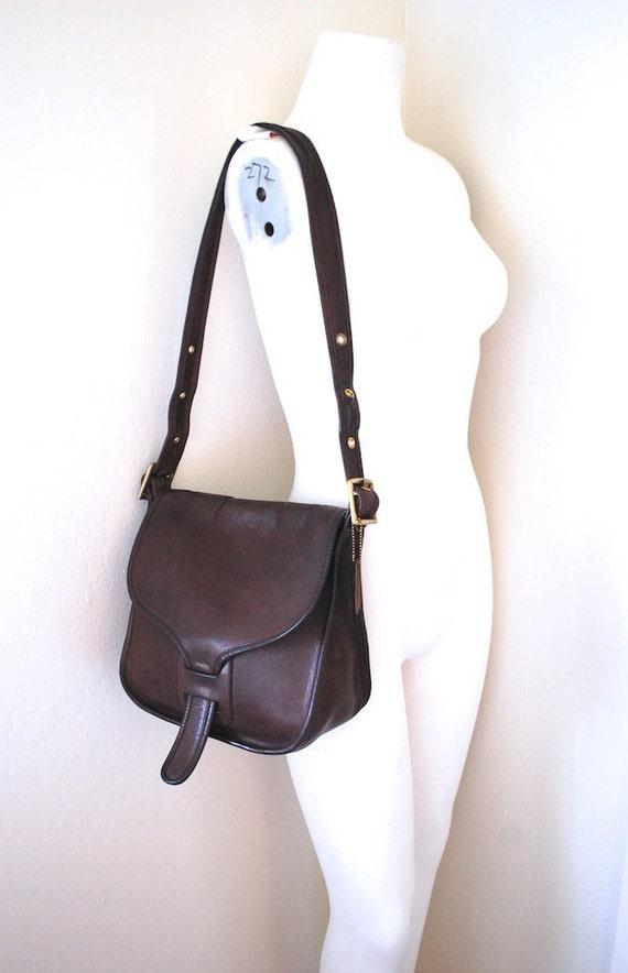 1970s COACH NYC Bonnie Cashin Very Rare Courier Pouch Leather Bag - Pre Serial