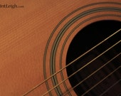 Music Guitar Strings - 8 x 12 Lustre Print Fine Art Original Minimalistic Wooden Earthy Photograph