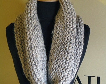 Oatmeal Oversized Chunky Knit Cowl