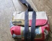 camera case wristlet, purse, pouch Lecien vintage art store fabric