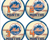 Pick your team - Baseball - Baby Monthly Milestone Stickers, Baby Stickers, Monthly Stickers, Month Stickers, First Year Belly Sticker
