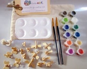DIY Wooden Birds, Bees, Dragonflies, Butterflies and Paint Kit in a Bag Arts and Crafts for Kids
