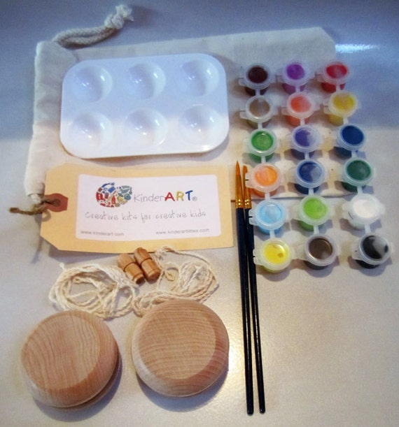 DIY Wooden Yo-Yos and Paint Kit in a Bag Arts and Crafts for Kids