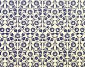 """Italian Paper - CARTA VARESE Design B69 - """"Viticcio Fiore blue"""""""