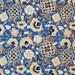 "Japanese Chiyogami Paper - Design  ""Blütenzauber gold&blau"""