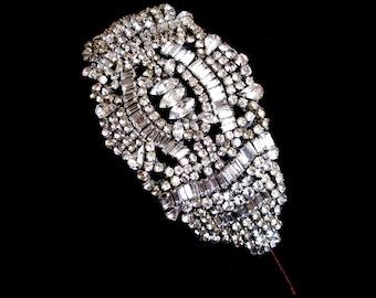 Vintage style bridal headpiece or side tiara - Paris