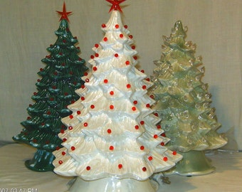 "Custom 13""-15""T Full Christmas Tree-Light Kit Base-Ceramic-NEW-Made To Order"