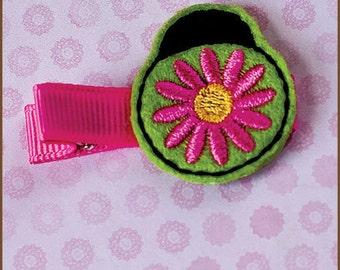 Hair Clip Felt - Flower Ladybug