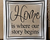 Canvas Art - Home is Where Our Story Begins 12x12