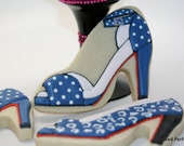 High Heel Shoe Hand Decorated Sugar Cookie, Great for Ladies Get Togethers, Bridal Showers, Wedding Favors