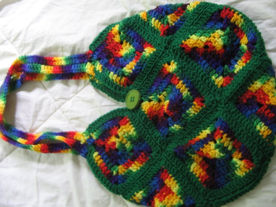 crochet bag rainbow bag crochet purse