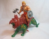 Vintage He-Man and BATTLE CAT Masters of the Universe MOTU 1981
