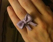 Pastel Purple Polymer Clay Bow Ring