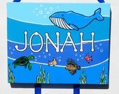 Under The Sea Custom Personalized Painting 8x24