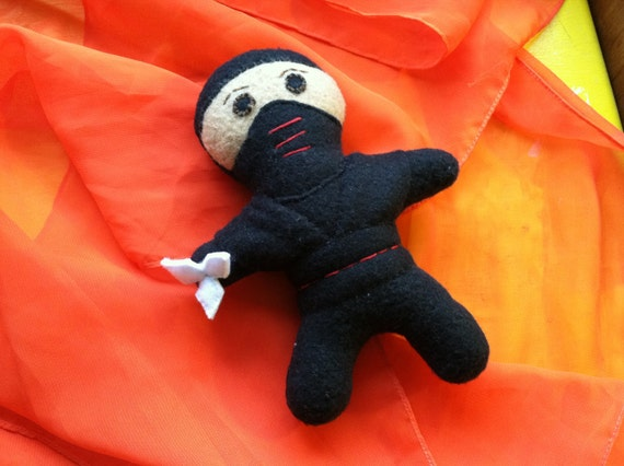 Plush Toy Ninja with Star: Red
