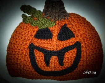 LilySong JACKOLANTERN FACE Free Crochet Pattern in listing : JuST FoR FuN