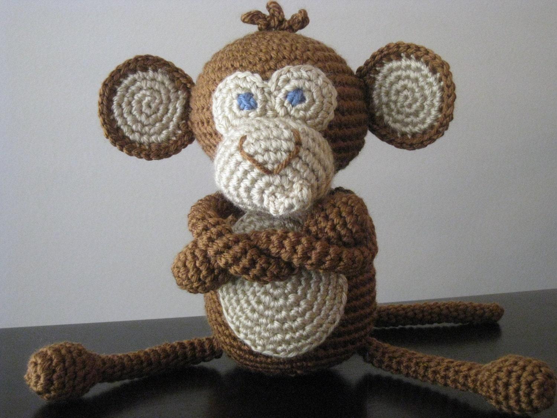 Crochet Pattern Crochet Baby Boy Or Girl Monkey Pattern