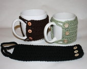 Mug Cozy with 3 Buttons - Stocking Stuffer or Perfect Office Gift