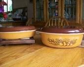 Vintage Pyrex Old Orchard Pattern Casserole set