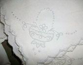Set of 10 Linen Embroidered Napkins