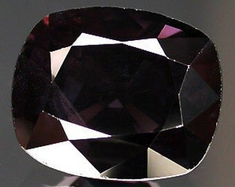 100 % natural unheated/untreated 5.52 cts antique facet cut dark purple spinel gemstone