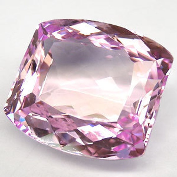 39.70 cts glowing cushion shape sweet pink color topaz  drilled