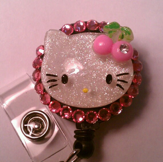 Buy 1, Get 1 Free: Hello Kitty Rhinestone Badge ID Holder