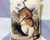 Alice In Wonderland Rabbit Being Late Cushion Pillow Coloured