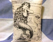 Mermaid Vintage Style Cushion Pillow