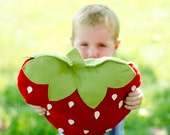 Felt Strawberry Picnic Pillow DIY PDF Pattern