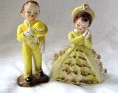 Courting Couple Cake Topper